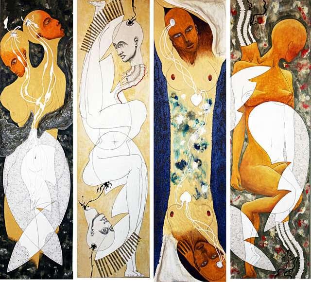#1 - 2006 - tecnica mista - 35x125 cm (ciascuno)